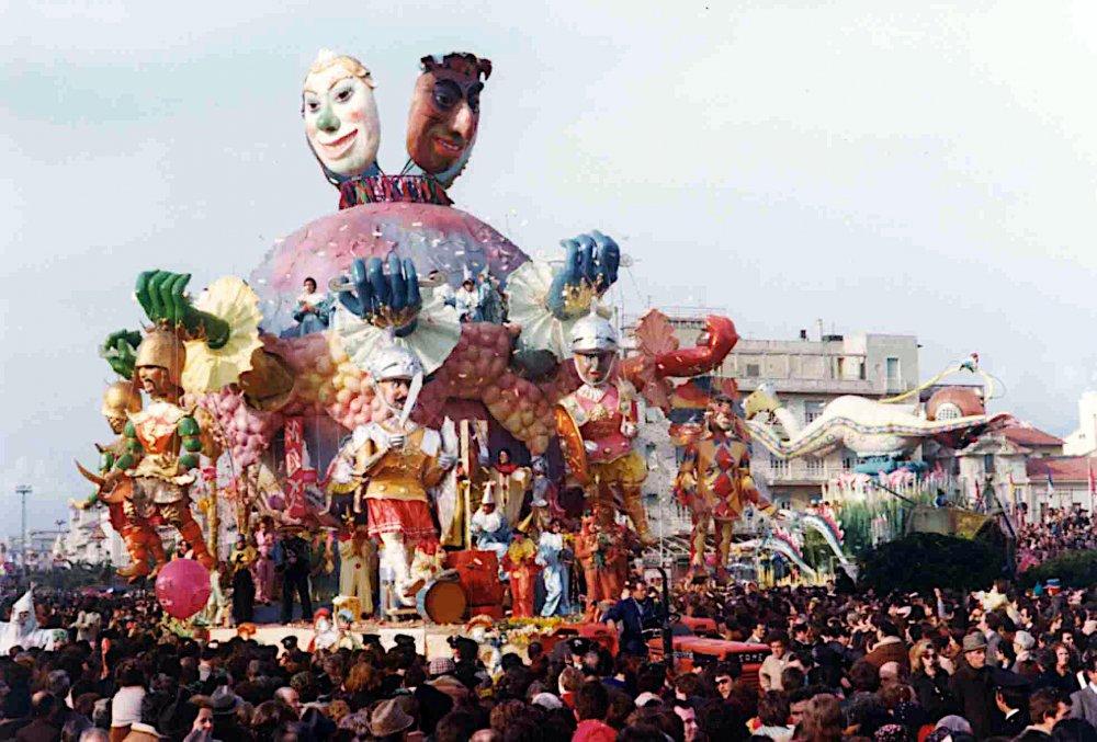 Continenti e pupazzi di Ademaro Musetti - Carri grandi - Carnevale di Viareggio 1976