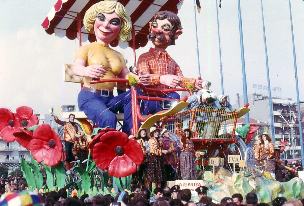 La ripresa economica di Renato Verlanti - Carri piccoli - Carnevale di Viareggio 1976