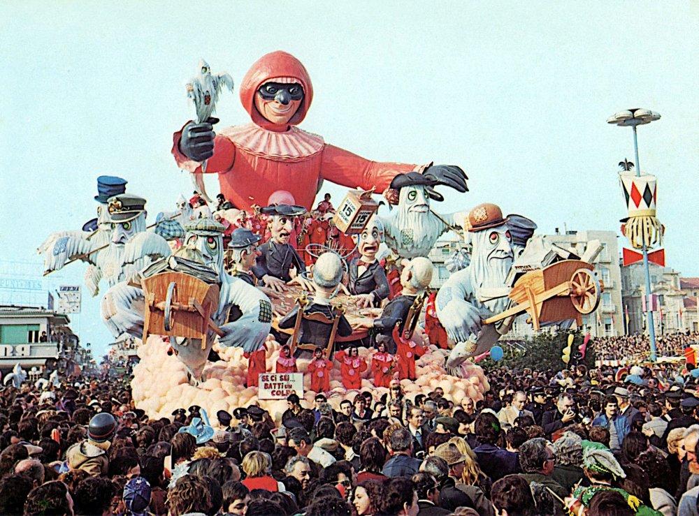 Se ci sei batti un colpo di Renato Galli - Carri grandi - Carnevale di Viareggio 1976