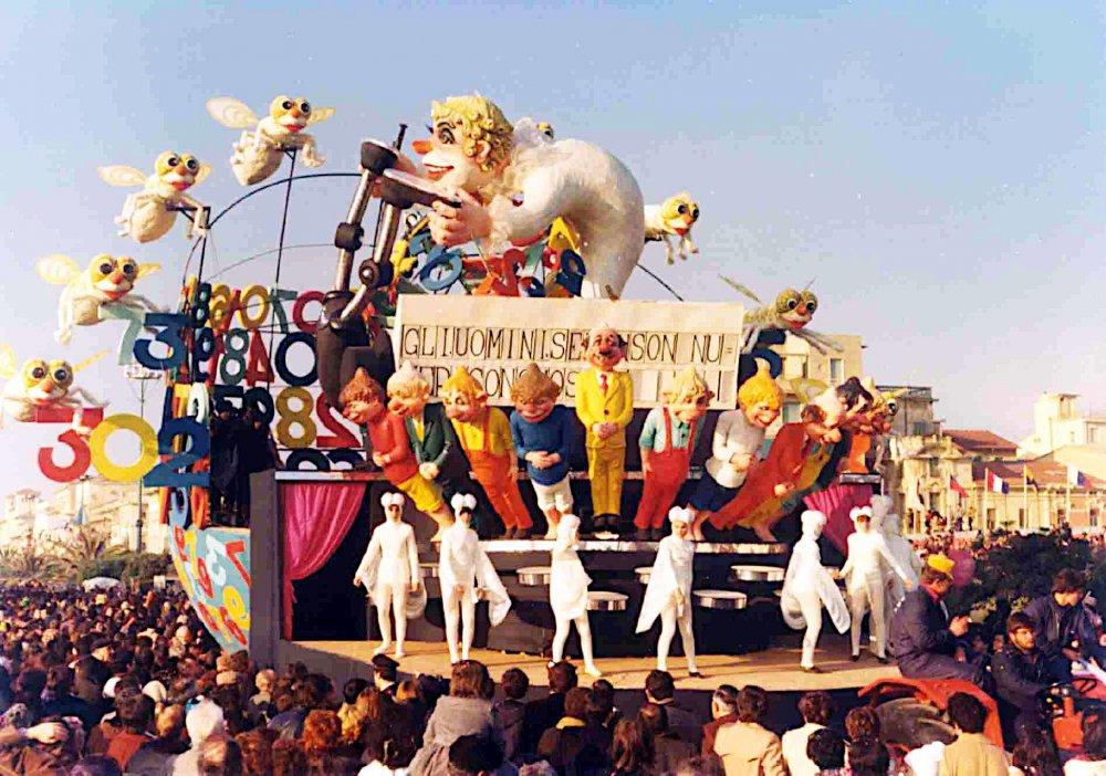 Le mosche bianche di Raffaello Giunta - Carri grandi - Carnevale di Viareggio 1977