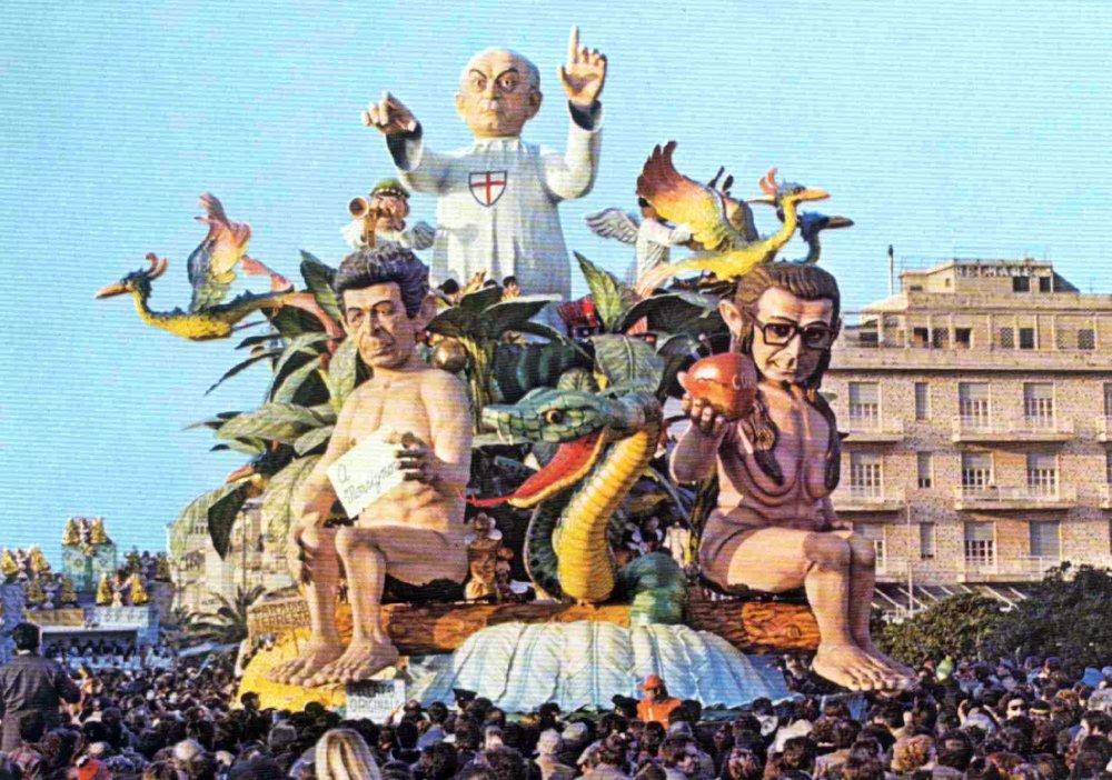 Peccato originale di Silvano Avanzini - Carri grandi - Carnevale di Viareggio 1978