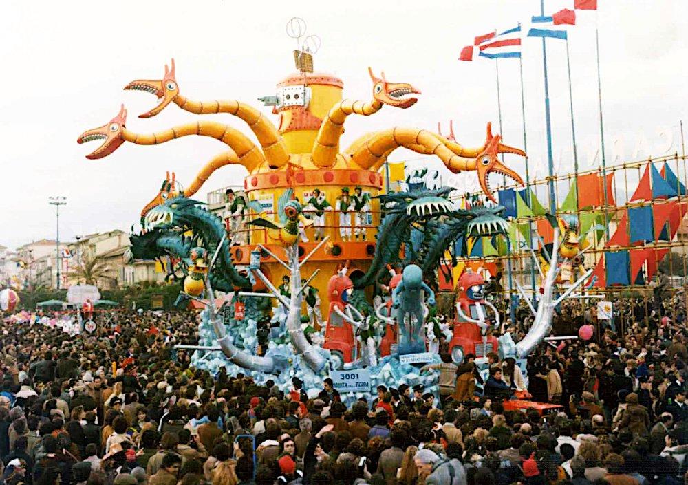 3001 odissea sulla Terra di Silvano Avanzini - Carri grandi - Carnevale di Viareggio 1979