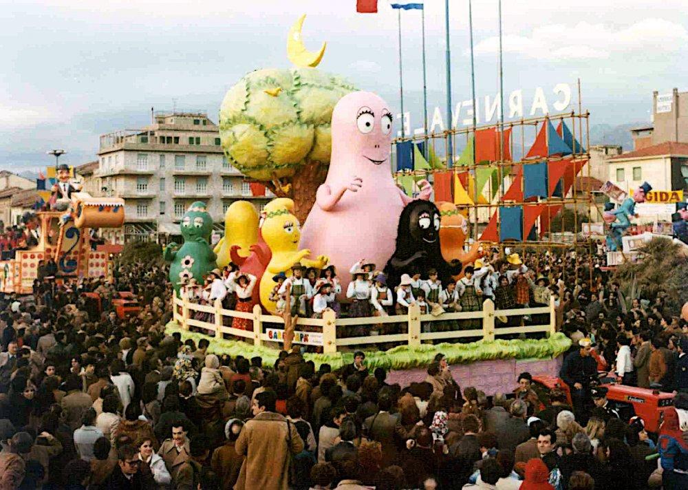 Barbapapà di Giuseppe Palmerini e Paolo Lazzari - Carri piccoli - Carnevale di Viareggio 1979