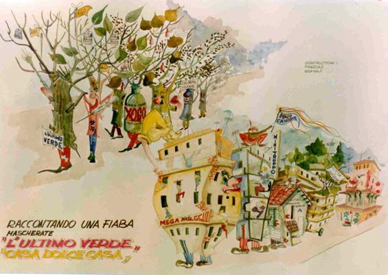 Barbapapà di Angelo Romani, Giovanni Pardini - Mascherate di Gruppo - Carnevale di Viareggio 1979