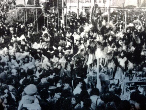 Fuochi artificiali in Darsena di Rione Darsena - Palio dei Rioni - Carnevale di Viareggio 1979