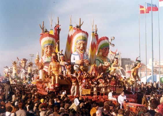 Haug! Il governo che fa per noi di Giuseppe Palmerini - Carri piccoli - Carnevale di Viareggio 1980