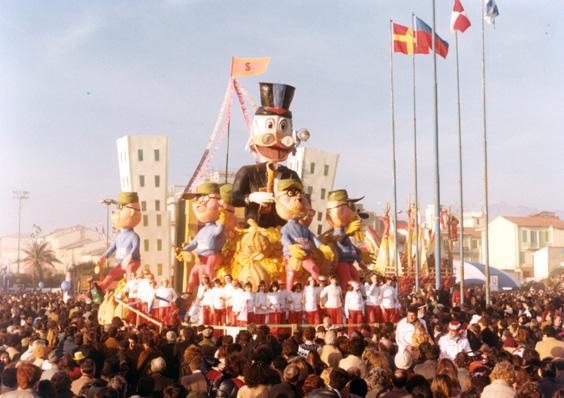Sing sing dona di Eros Canova - Carri piccoli - Carnevale di Viareggio 1980