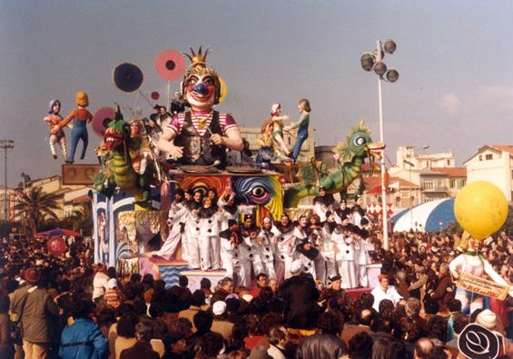 Carnevale disc-jockey di Rione Vecchia Viareggio - Carri piccoli - Carnevale di Viareggio 1981