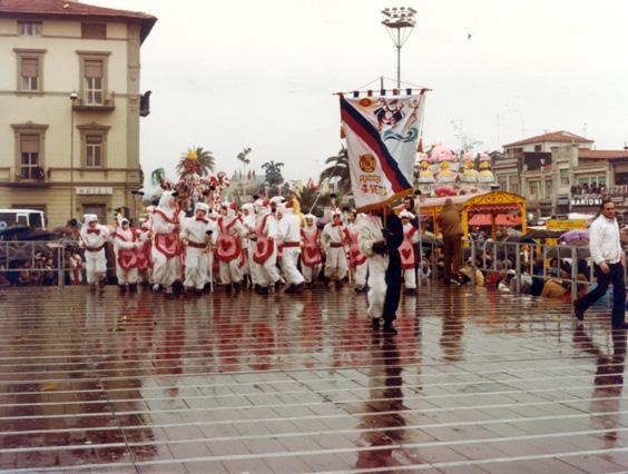 Coniglieide, il treno dell'amore di Rione Quattro Venti - Palio dei Rioni - Carnevale di Viareggio 1981