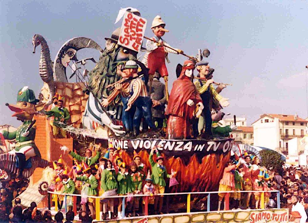 Siamo tutti fritti di Davino Barsella - Carri piccoli - Carnevale di Viareggio 1981