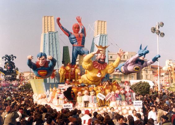 Super carnevale di Amedeo Mallegni - Carri piccoli - Carnevale di Viareggio 1981