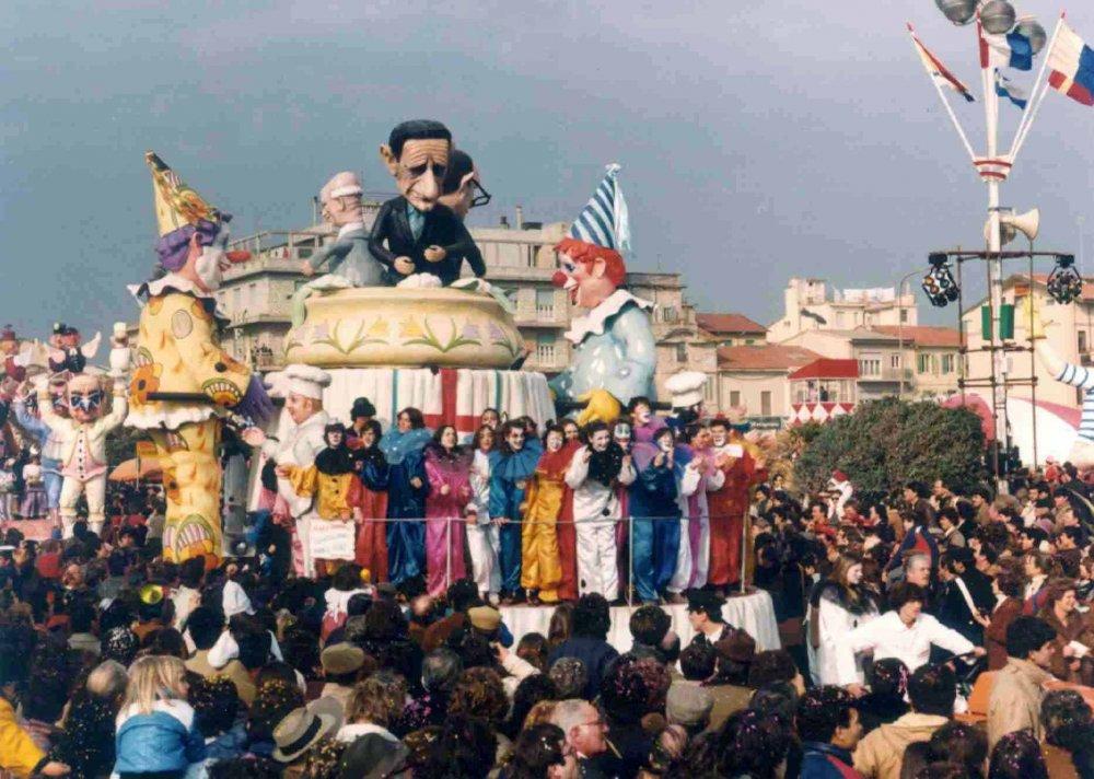 Cavoletti al bianco fiore di Giuseppe Palmerini - Carri piccoli - Carnevale di Viareggio 1982