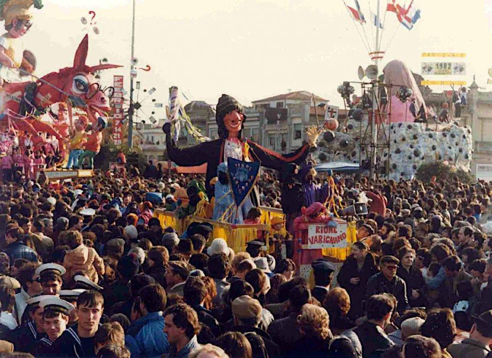 Dominando il carnevale di Rione Varignano - Palio dei Rioni - Carnevale di Viareggio 1982