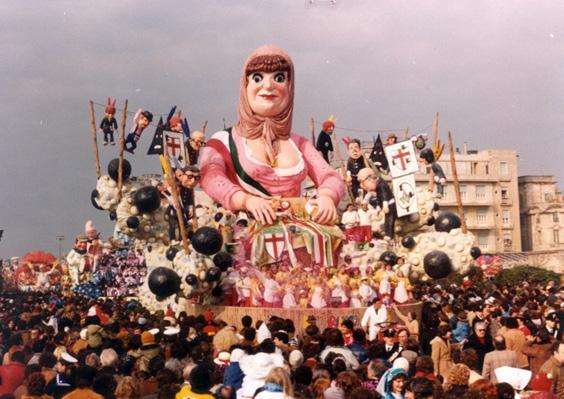 E più bianco non si può di Davino Barsella, Eros Canova - Carri grandi - Carnevale di Viareggio 1982