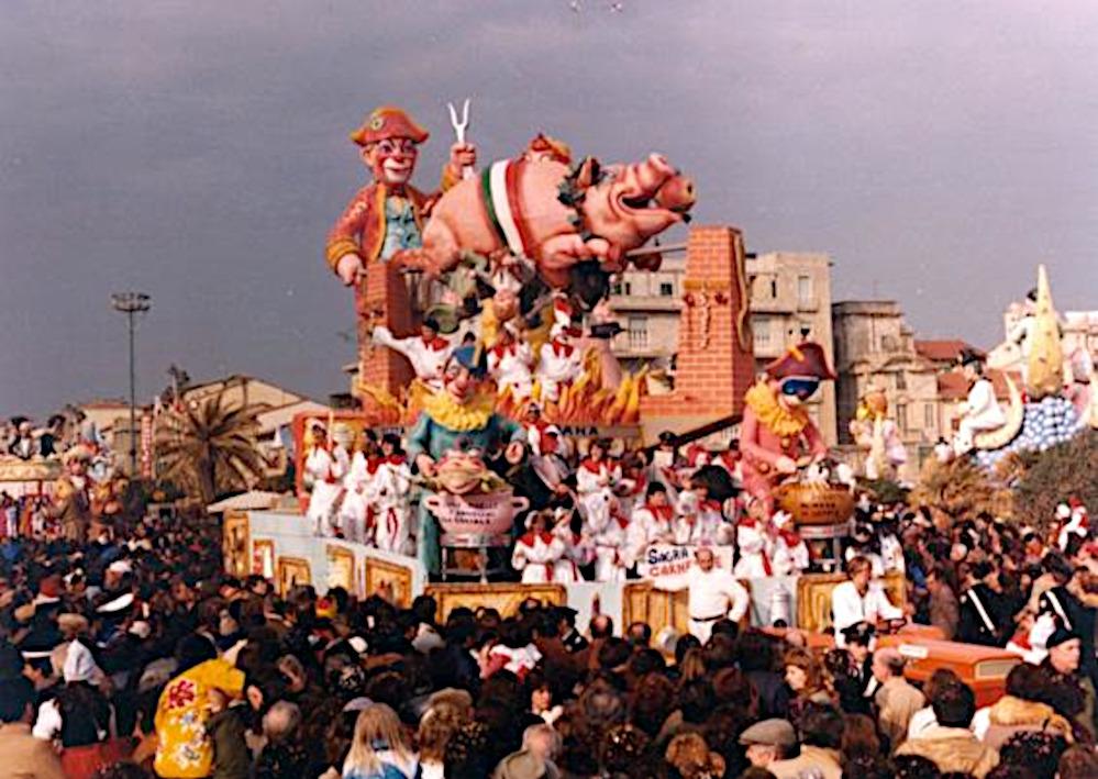 Sagra gastronomica di carnevale di Amedeo Mallegni - Carri piccoli - Carnevale di Viareggio 1982