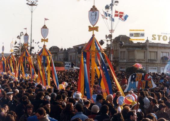 Vela hop di Rione Marco Polo - Palio dei Rioni - Carnevale di Viareggio 1982