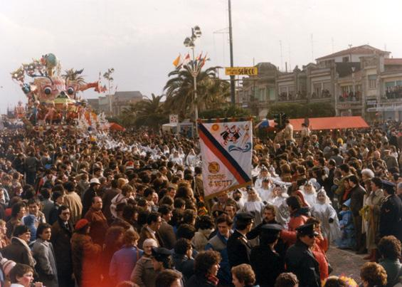 Gabbiani in maschera di Rione Quattro Venti - Palio dei Rioni - Carnevale di Viareggio 1983