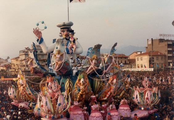 Dove nacque il carnevale di Sergio Baroni e Renato Verlanti - Carri grandi - Carnevale di Viareggio 1984
