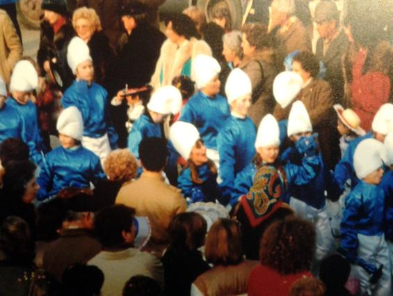 I puffi di Rione Centro - Palio dei Rioni - Carnevale di Viareggio 1984