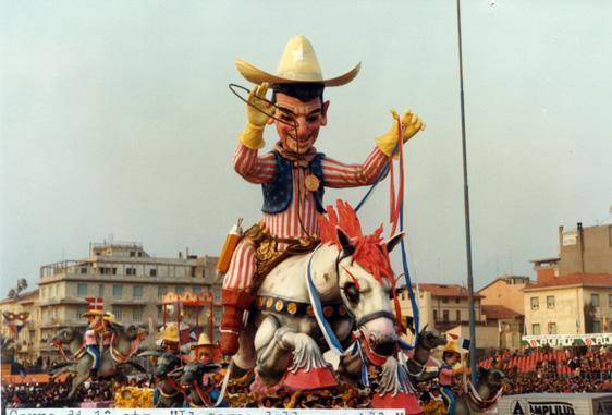 Il sogno dello sceriffo di Giulio Palmerini (progetto Nilo Lenci) - Carri grandi - Carnevale di Viareggio 1984