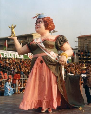 Miss carnevale di Gionata Francesconi - Maschere Isolate - Carnevale di Viareggio 1984