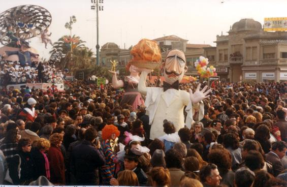 Spaghetti allo scoglio di Sabrina Tamburini - Maschere Isolate - Carnevale di Viareggio 1984