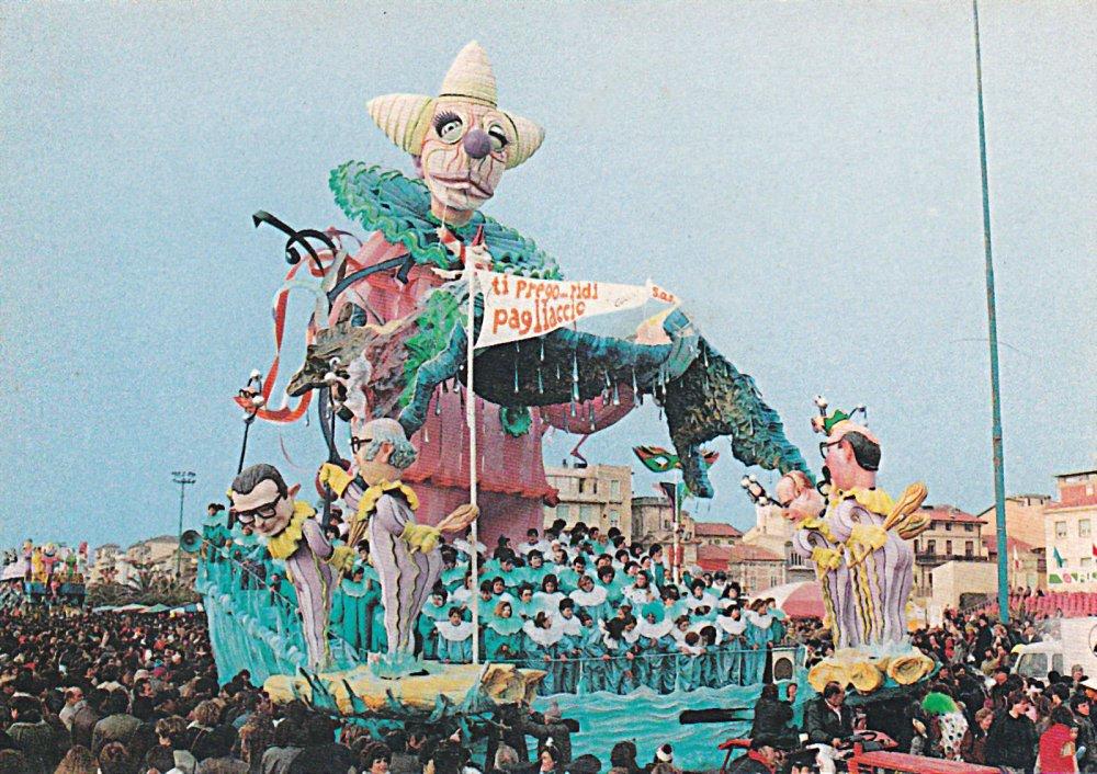 Ti prego ridi pagliaccio di Arnaldo e Giorgio Galli - Carri grandi - Carnevale di Viareggio 1984