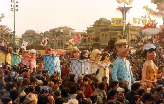 Turismo giovane di Davino Barsella e Loris Lazzarini - Mascherate di Gruppo - Carnevale di Viareggio 1984