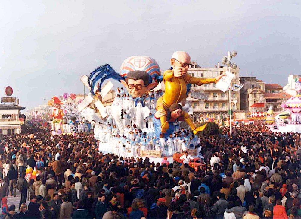 L'ultimo Don Chisciotte di Silvano Avanzini - Carri grandi - Carnevale di Viareggio 1985
