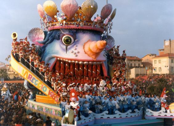 Musica dal mare di Sergio Baroni e Renato Verlanti - Carri grandi - Carnevale di Viareggio 1985