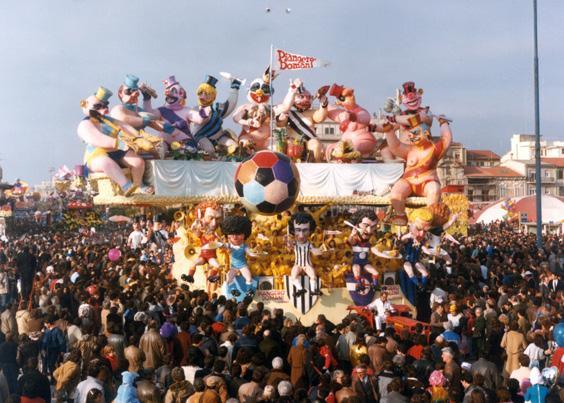 Piangerò domani di Arnaldo e Giorgio Galli - Carri grandi - Carnevale di Viareggio 1985