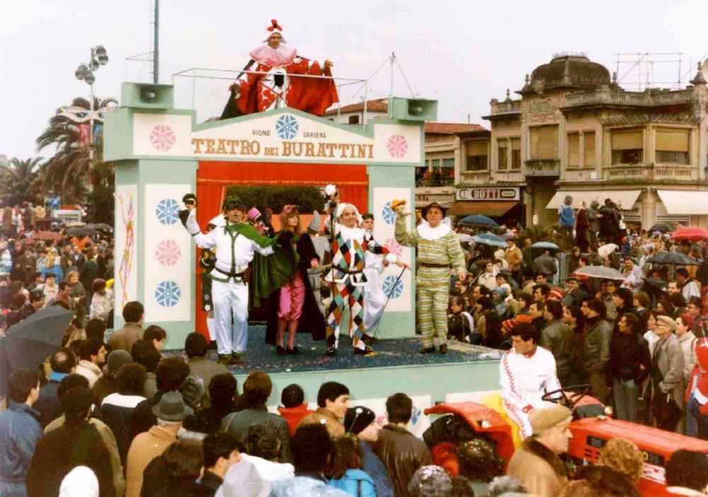 Teatro di burattini di Rione Darsena - Palio dei Rioni - Carnevale di Viareggio 1985