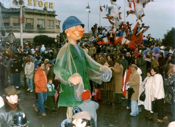 Vero o falso? di Mario Marini - Maschere Isolate - Carnevale di Viareggio 1985