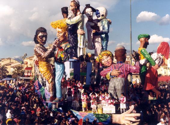 Il grande valzer di Gilbert Lebigre e Corinne Roger - Carri grandi - Carnevale di Viareggio 1986