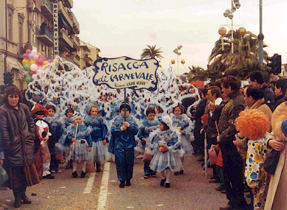 Risacca di carnevale di Rione Croce Verde - Palio dei Rioni - Carnevale di Viareggio 1986