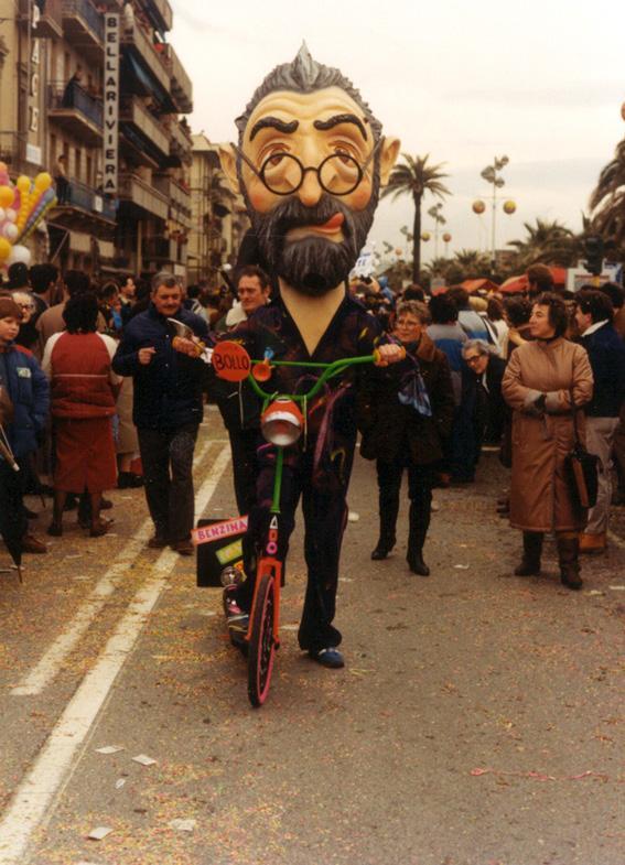 Ritorno alle origini di Simone Politi - Maschere Isolate - Carnevale di Viareggio 1986