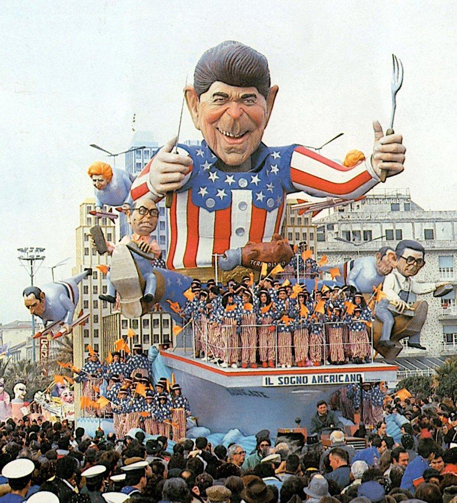 Il sogno americano di Silvano Avanzini - Carri grandi - Carnevale di Viareggio 1987