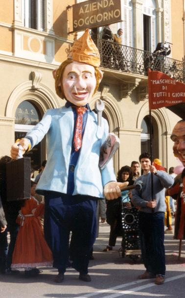 Maschere di tutti i giorni di Luca Pellegrini - Maschere Isolate - Carnevale di Viareggio 1987