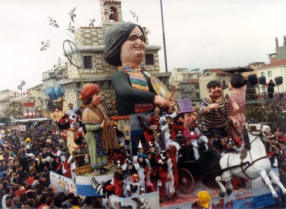 Mi riordo di Davino Barsella - Carri piccoli - Carnevale di Viareggio 1987