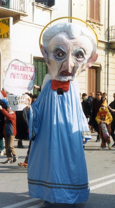 Più lo butti giù e più ti tira su di Glauco Dal Pino - Maschere Isolate - Carnevale di Viareggio 1987