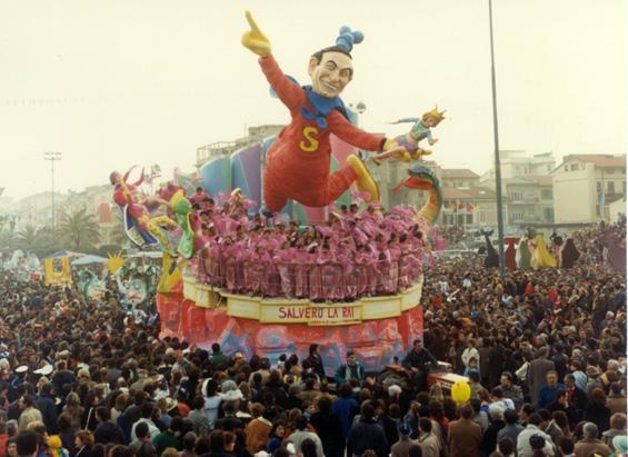 Salverò la RAI di Fabrizio Galli - Carri piccoli - Carnevale di Viareggio 1987