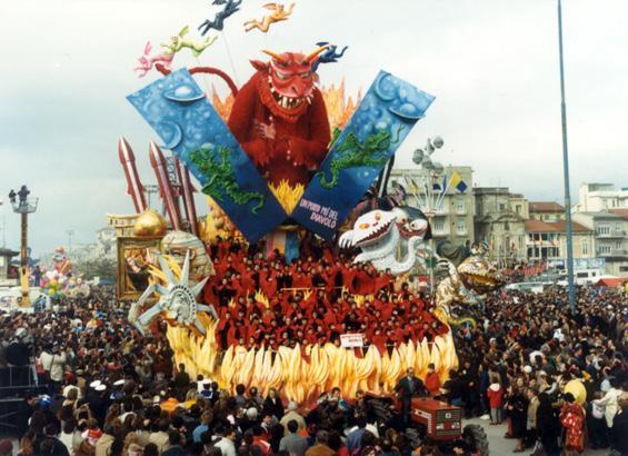 Un punto più del Diavolo di Arnaldo e Giorgio Galli - Carri grandi - Carnevale di Viareggio 1987
