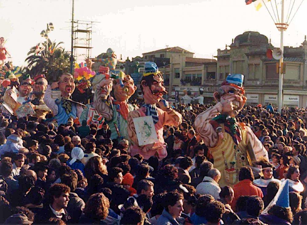Il neoespressionismo di Umberto Cinquini - Mascherate di Gruppo - Carnevale di Viareggio 1988
