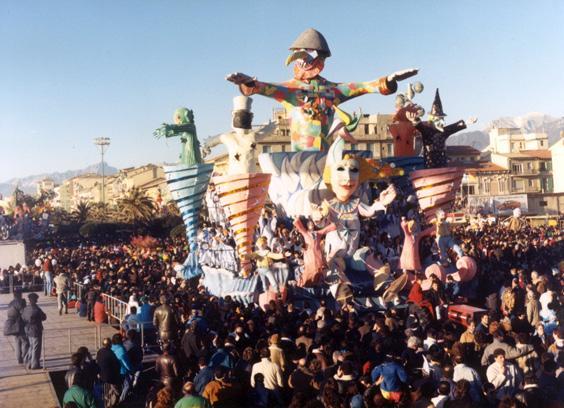 Il signore del vento di Giovanni Maggini - Carri grandi - Carnevale di Viareggio 1988