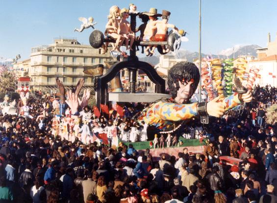 Il trionfo dell'amore di Michele Canova (cons. Davino Barsella) - Carri piccoli - Carnevale di Viareggio 1988