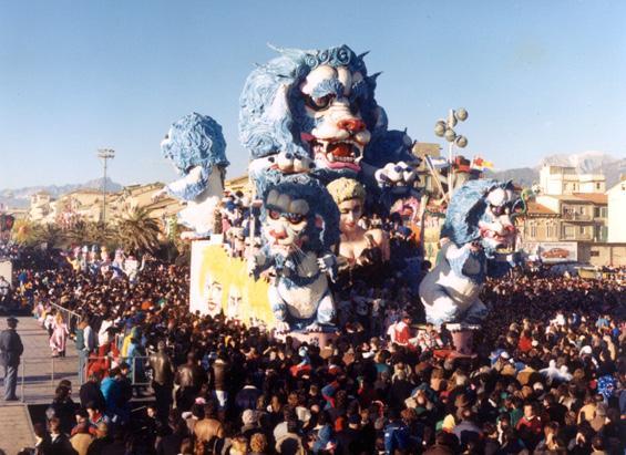 Madonna Ciccone un successo da leone di Gilbert Lebigre e Corinne Roger - Carri grandi - Carnevale di Viareggio 1988