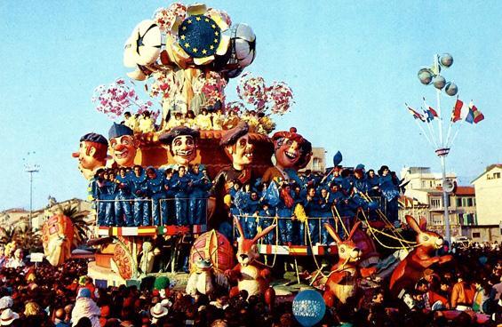 Europa '92 di Raffaello Giunta - Carri grandi - Carnevale di Viareggio 1989