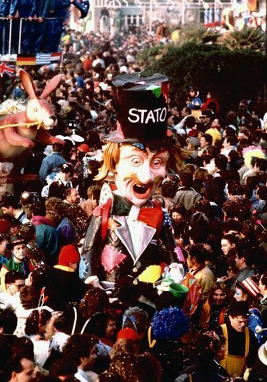 Il cantastorie di Cristina Etna - Maschere Isolate - Carnevale di Viareggio 1989