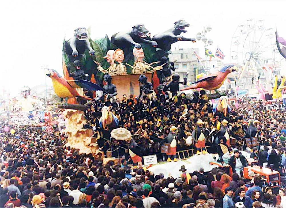 Come sono buoni i bianchi di Giovanni Maggini - Carri grandi - Carnevale di Viareggio 1990