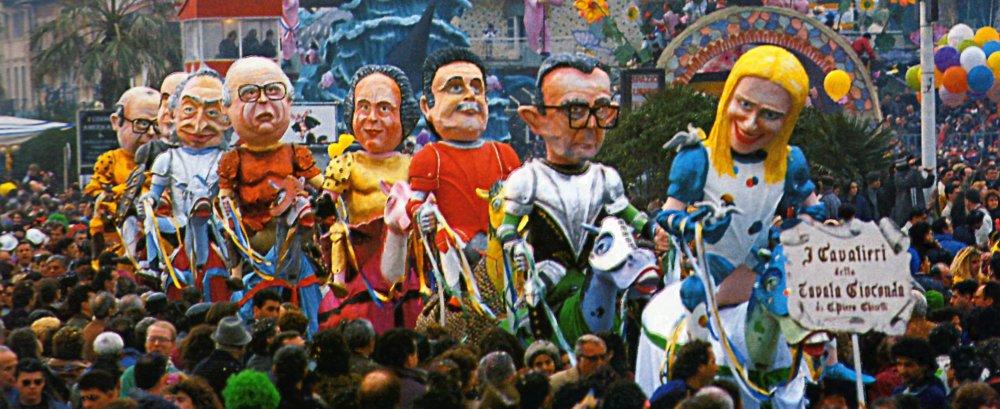 I cavalieri della tavola gioconda di Giampiero Ghiselli - Mascherate di Gruppo - Carnevale di Viareggio 1990